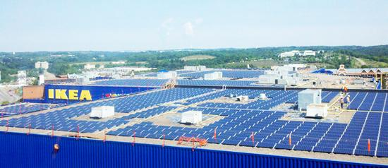 chain stores said to lead firms in use of solar energy