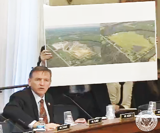 Rep. Paul Gosar explains Resolution mine plans at a committee hearing March 21.