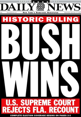 bush v gore 2000 In bush v gore, the supreme court decided one of the closest presidential elections ever with both former texas governor george w bush and vice president albert gore needing to win florida to.