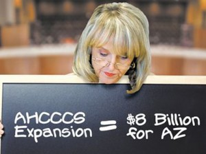 Gov. Jan Brewer illustrated what Medicaid expnsion means for Arizona.