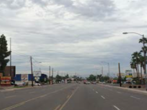Too wide for the traffic volume and left behind by the freeway, North 32nd Street is the subject of a Phoenix City Council proposed plan. / City of Phoenix