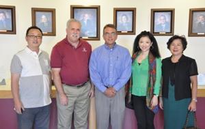 Casa Grande Mayor Bob Jackson (second from left) is seen with AZ Sourcing staff, including Elizabeth Mann (right).