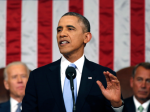 The speech was Obama's sixth, and his first before a Congress where both chambers are controlled by Republicans.