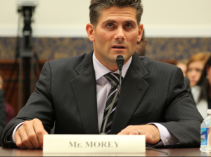 Sean Morey, former NFL athlete and current Executive Board Member of the NFL Players Association, testified at a hearing on H.R 6172, Protecting Student Athletes from Concussions Act./ House Committee on Education and the Workforce Democrats photo