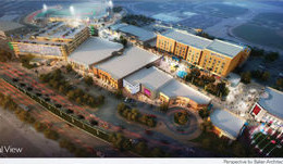 An artist's rendering depicts The Avenue Shoppes at P83, an entertainment, retail and restaurant addition to the city's sports and entertainment district.