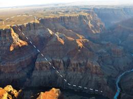 Proposed tramline. :Photo courtesy Grand Canyon Trust
