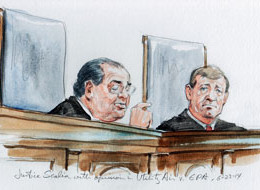 Justice Scalia announces opinion in Utility Air v. EPA./SCOTUS.blog
