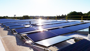 SolarCity mounting hardware for flat commercial rooftops