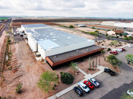 The size of the Casa Grande plant (it totals 90,000 square feet) is deceiving upon first view from the front; it's not obvious how big it really is.