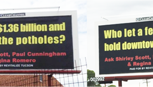 Two of the five billboards paid for by Revitalize Tucson:Reader submitted photos