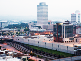 In the foreground, the 14.5-acre campus of LifeWay Christian Resources :NATHAN MORGAN   NASHVILLE BUSINESS JOURNAL