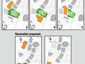 Construction proposals Architekton and DPR illustrations