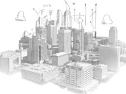 Aerial sketch downtown Phoenix