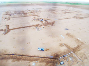 An aerial photo recently taken by AZ Sourcing, the developer of PhoenixMart, documented work that has been done with underground plumbing and electrical circuits.