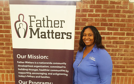 Jessica Beresford, director of operations at Father Matters, said she has seen a positive change within the division of child support services through the organization's partnership with the department. /Photo by Michelle Chance/Cronkite News